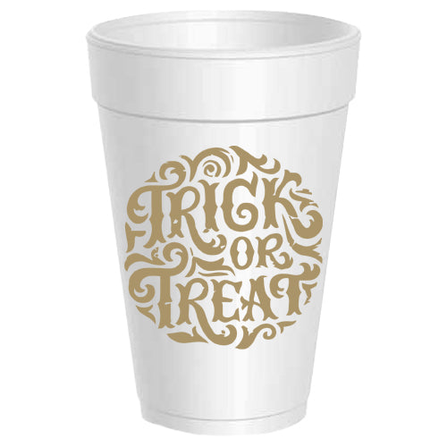 """Trick or Treat"" Party Cups"