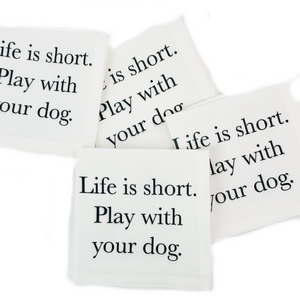 Play With Your Dog Cocktail Napkins S/4