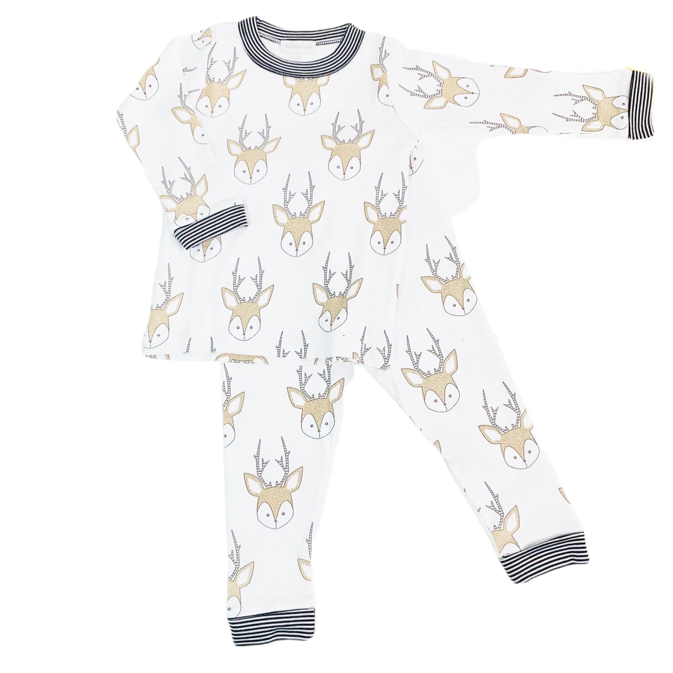 Little Buck 2pc Long PJ set by Magnolia Baby
