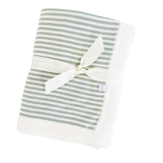 Mini Stripe Blanket-Sage