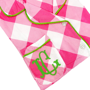 Pink Buffalo Check with Green Trim Nightshirts