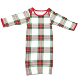 Christmas Plaid Infant Gown