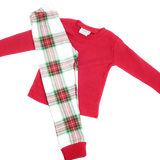 Christmas Plaid Kids PJ set
