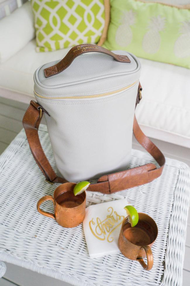 Pebble Grain Insulated Wine Tote