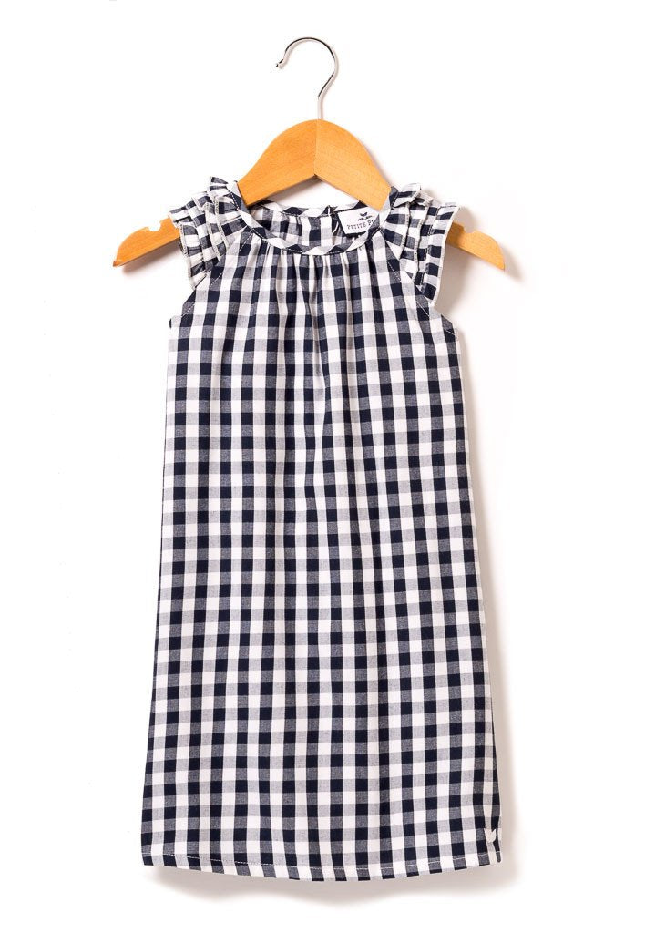 Navy Gingham Amelie Nightgown