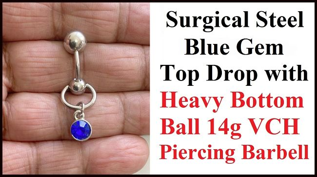 BLUE Gem Top Drop VCH Barbell with Heavy Ball for Extra Pressure.