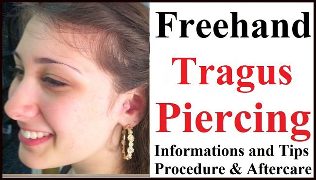 DIY TRAGUS Piercing, Tips, Procedure & AFTERCARE.