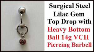 LILAC Gem Top Drop VCH Barbell with Heavy Ball for Extra Pressure.