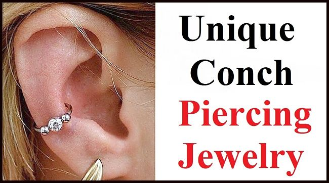 Sterilized Unique Conch Piercing Jewelry.