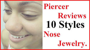 Piercer Reviews 10 Styles Nose Jewelry.