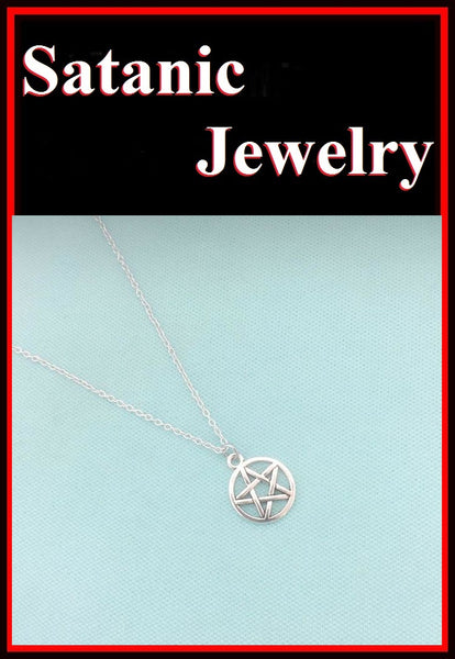 "5/8"" PENTACLE PENTAGRAM Silver Charms Necklace"