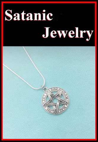 TETRAGRAMMATON PENTAGRAM Charm Necklace.