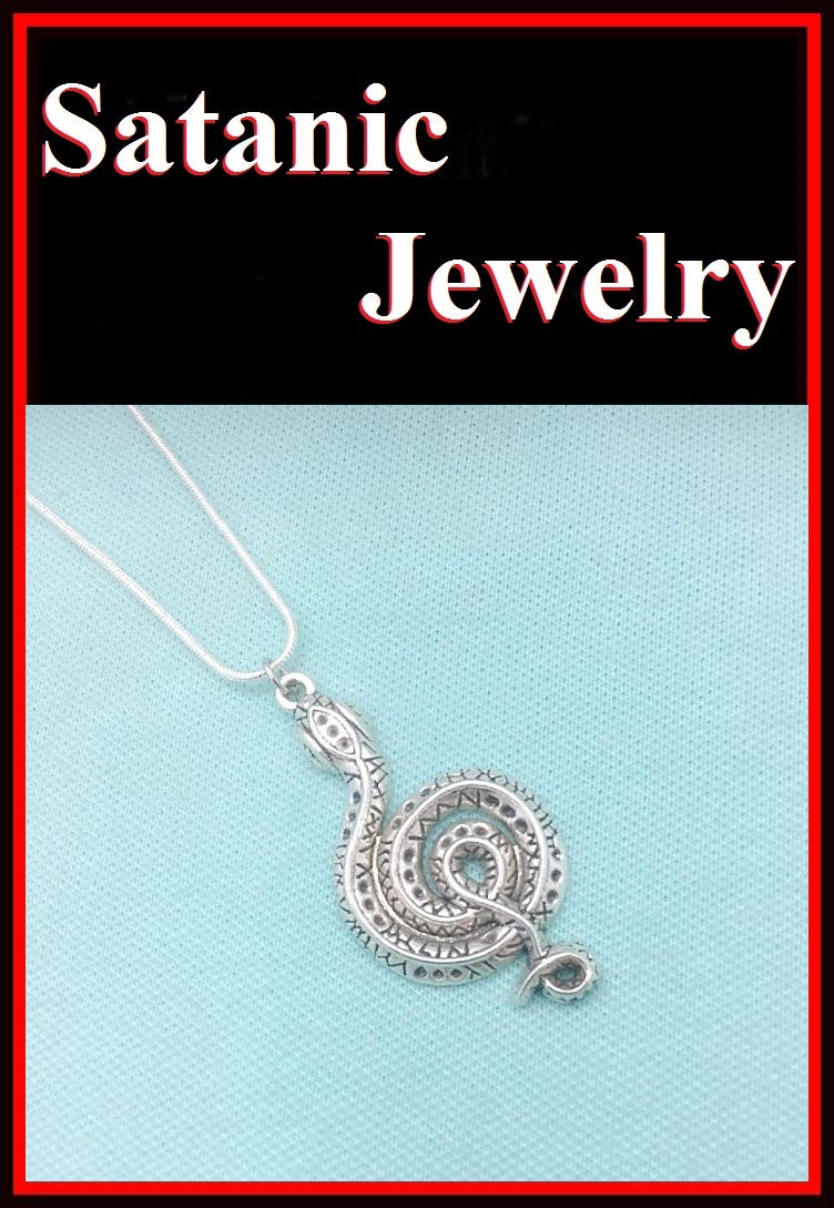 "2"" Large Antique Silver KING COBRA Charm Necklace."