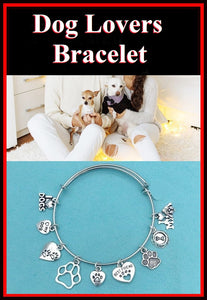 DOG Lover: Dog related Charms Beautiful Bangle