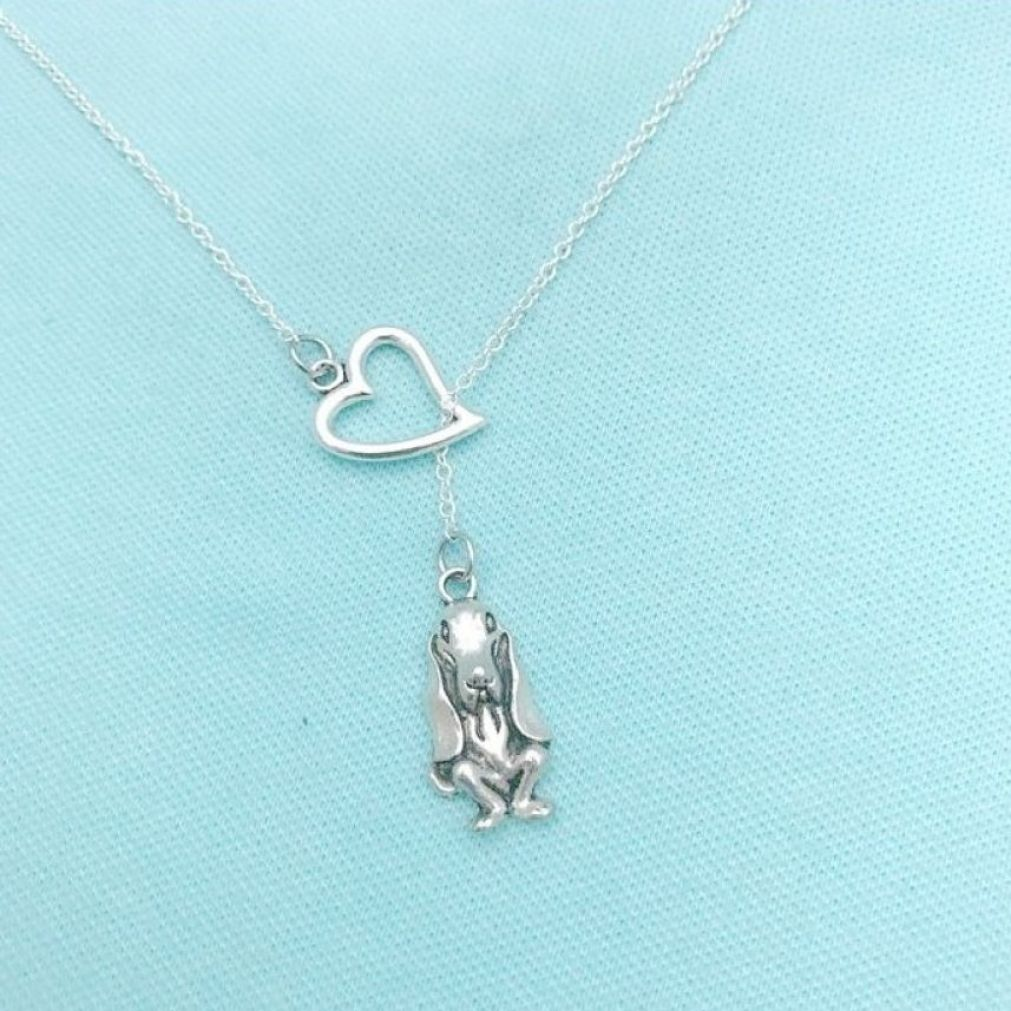 I Heart My Beagle Handcrafted Necklace Lariat Style.