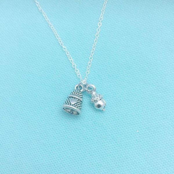 Handcrafted Peter Pan & Wendy kiss Charms Necklace.