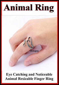 Beautiful OCTOPUS Resizable Finger Ring.
