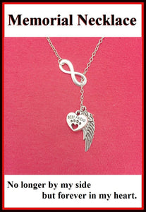 Gorgeous Handcraft Dog Memorial Necklace Lariat Style.
