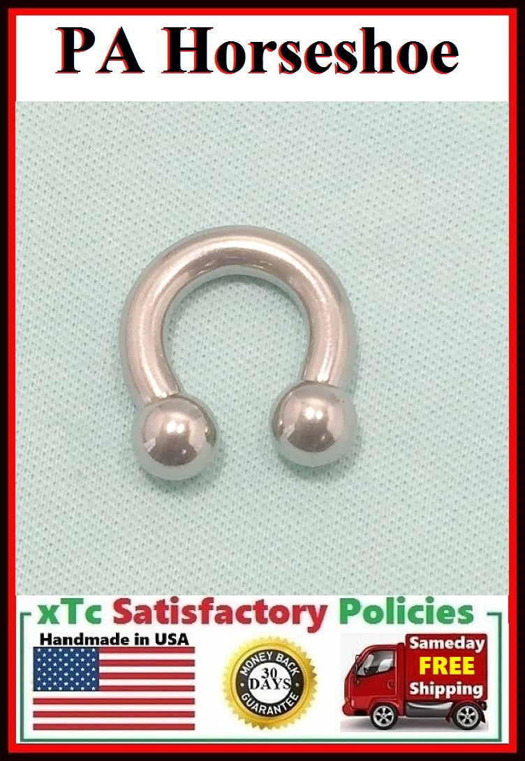 "Sterilized Surgical Steel 5/8"" Diameter PA Horseshoes."