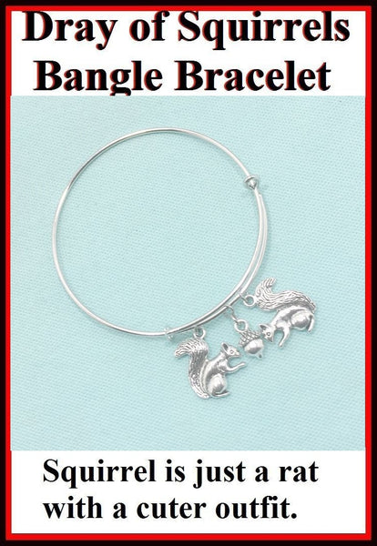 Dray of Squirrels 1 Acorn Expendable Charms Bangle.