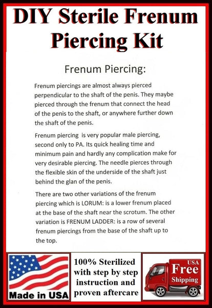 DIY Sterilized FRENUM Piercing Kit.