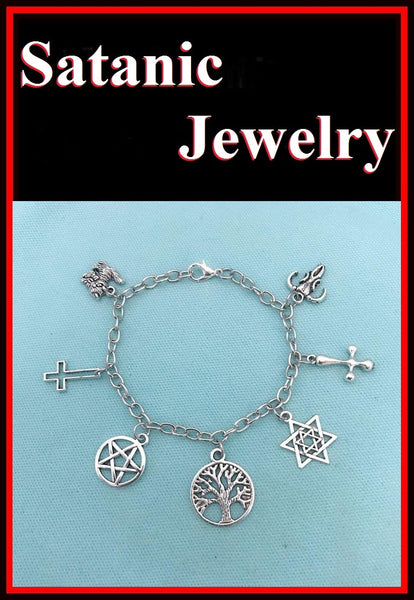 Gothic, Satanic, & Wiccan CHARMS BRACELET.