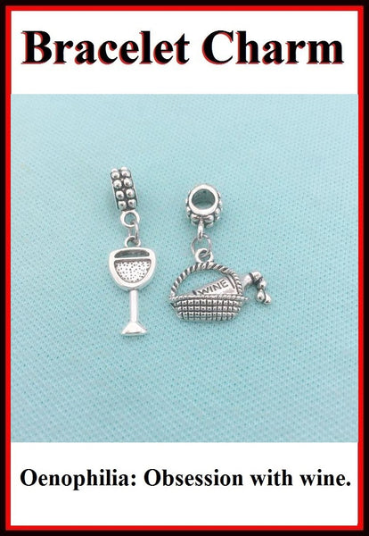 Wine Lover Charms for the Charm Bracelet.