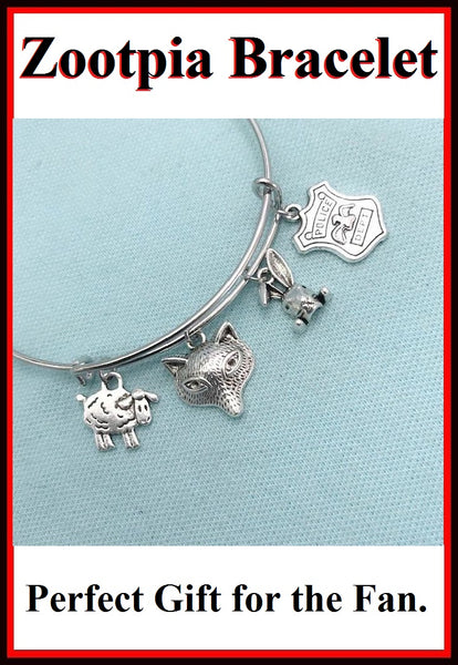 ZOOTOPIA Charms Stunning Charms Expendable Bangle Bracelet.