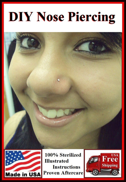 DIY Freehand Sterilized Nose Piercing Kit.