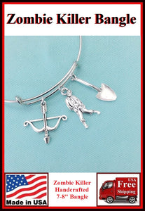 Zombie Killer Charms Expendable Bangle.