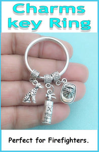 Perfect Charms Key Chain for FIREFIGHTERS related Gorgeous Charms.