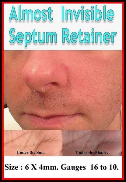 Sterilized Bio flex Almost Invisible 16-10g  Septum Retainers.