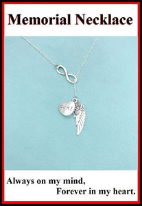 Beautiful Handcraft Aunt Guardian Angel Necklace Lariat Style.