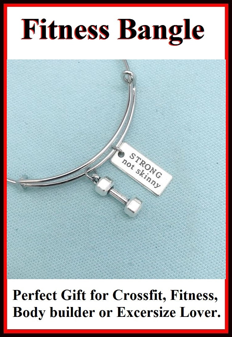 Simple & Beautiful Handcraft Crossfit Charms Expendable Charm Bangle.