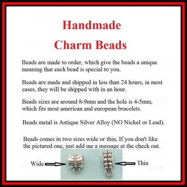 SEAMSTRESS : Thimble and Buttons Charms Fit Beaded Bracelet