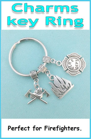 Perfect Charms Key Chain for FIREFIGHTERS related Beautiful Charms.