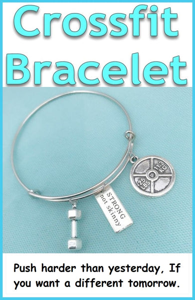 Beautiful Handcraft Crossfit Charms Expendable Charm Bangle.