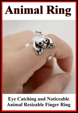 Beautiful FROG Resizable Finger Ring.