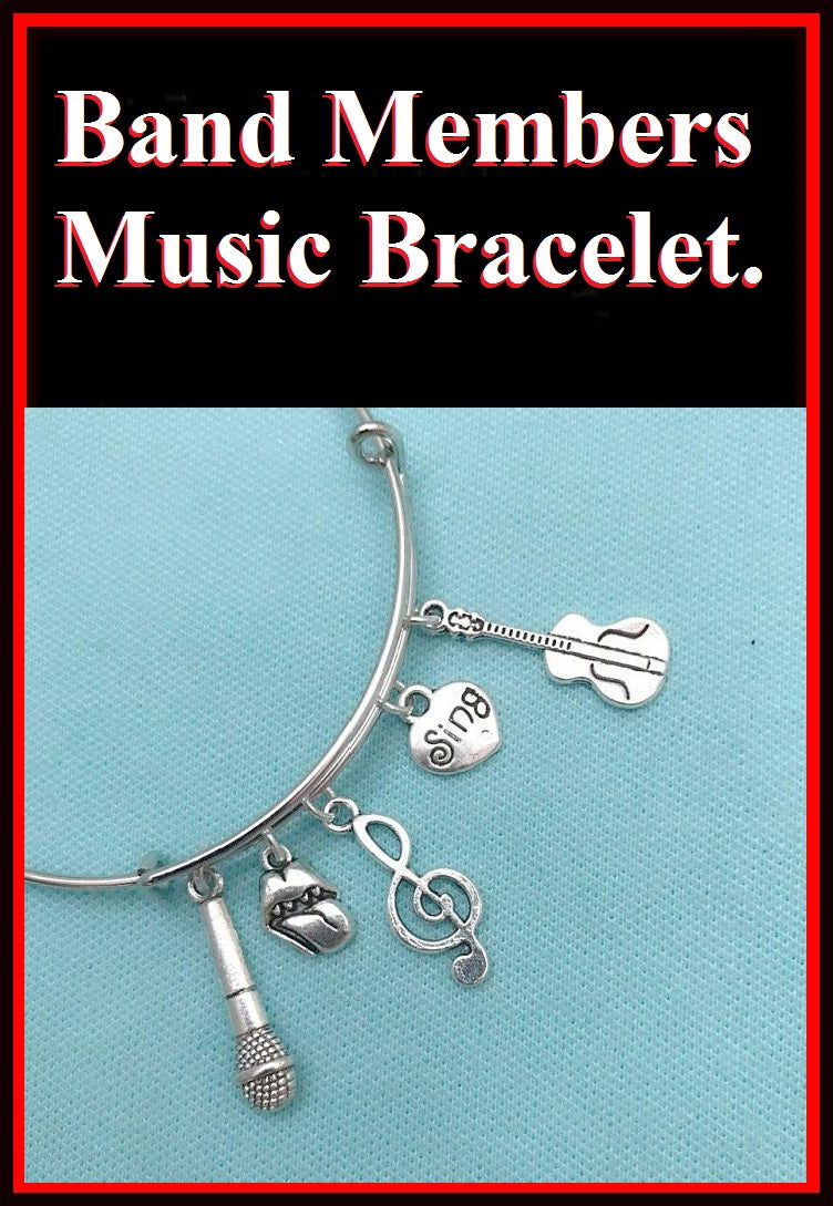 Rolling Stones Charms Expendable Bangle Bracelet