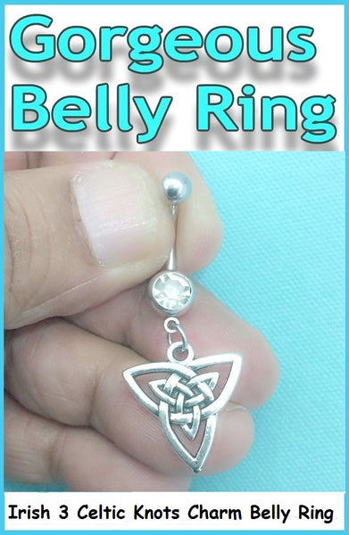 Sterilized IRISH Celtic Knot Surgical Steel Handmade Belly Ring