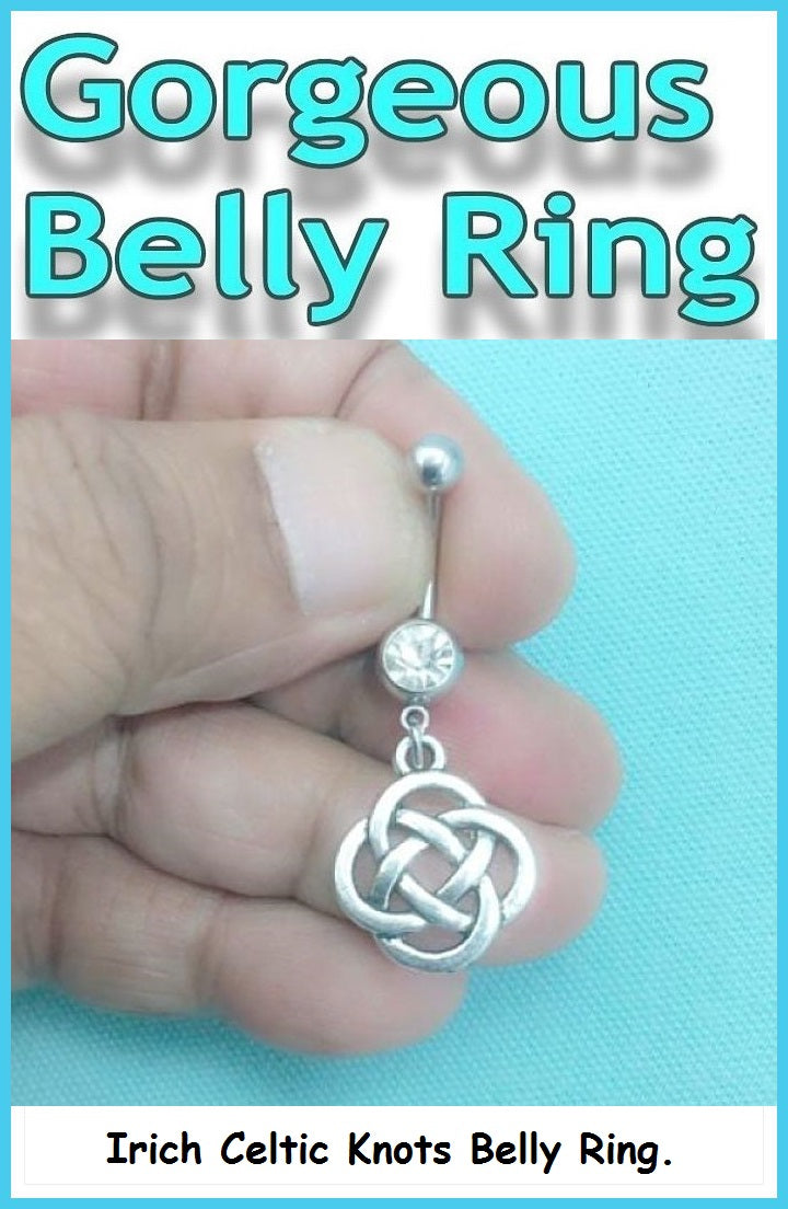 Sterilized IRISH Celtic Knots Surgical Steel Handmade Belly Ring