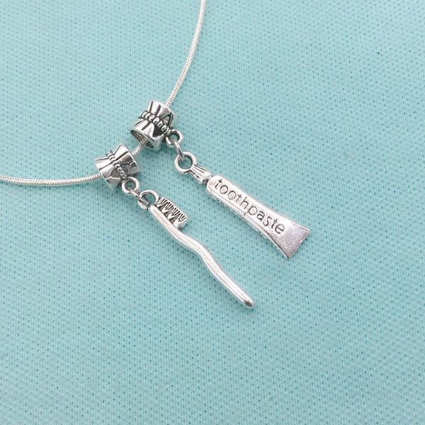 Medical Bracelet Charms : Toothpaste and Toothbrush Charms.
