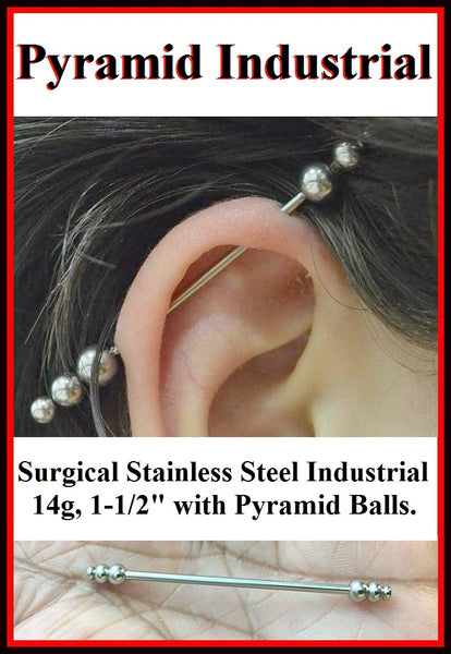 Beautiful Pyramid Balls Surgical Steel Industrial.