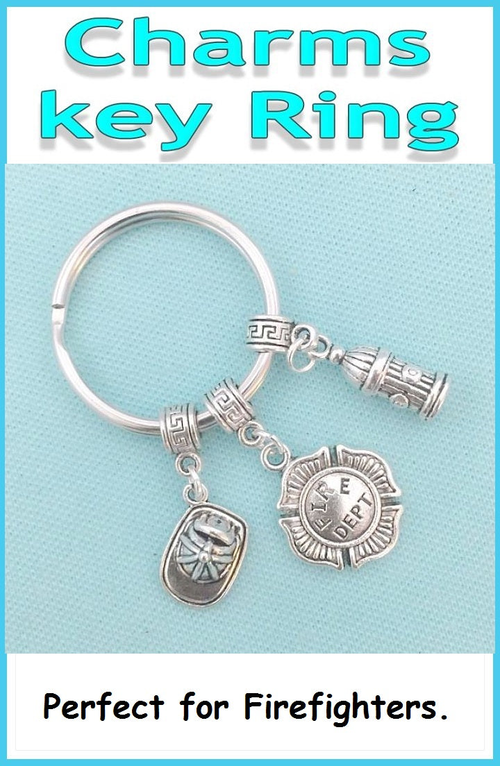 Perfect Charms Key Chain for FIREFIGHTERS with related Charms.