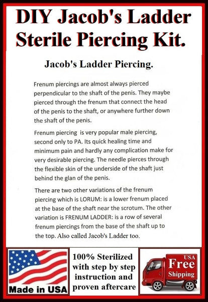 DIY Sterilized 14g JACOB's LADDER Piercing Kit.