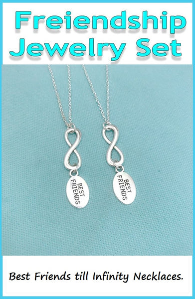 BF Sets : 2 Friendship till Infinity Necklaces Set.