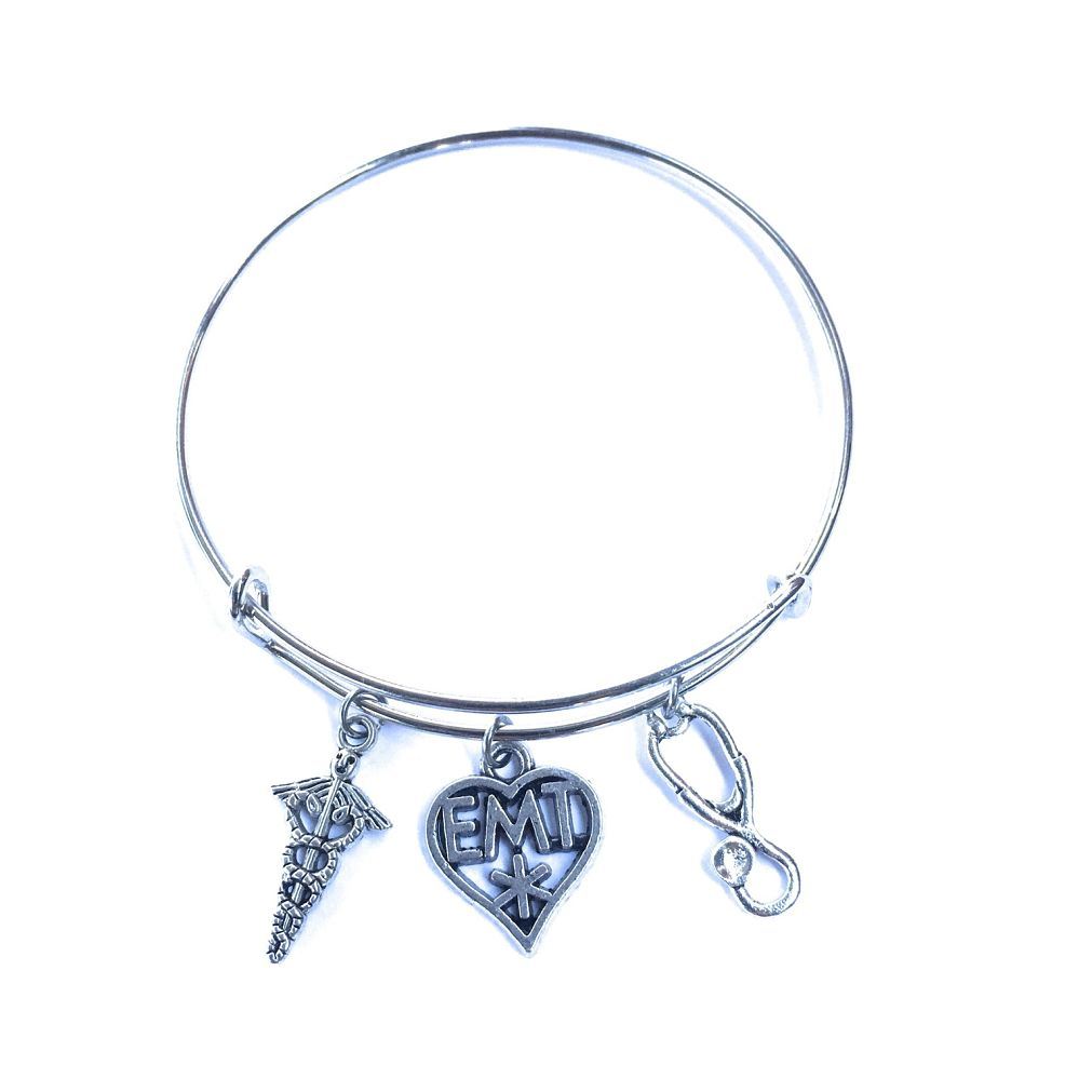 EMT Heart Related Charms Expendable Bangle.