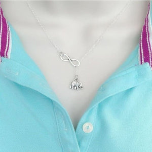 Modern n Trendy. Lucky Elephant Necklace Lariat Style.
