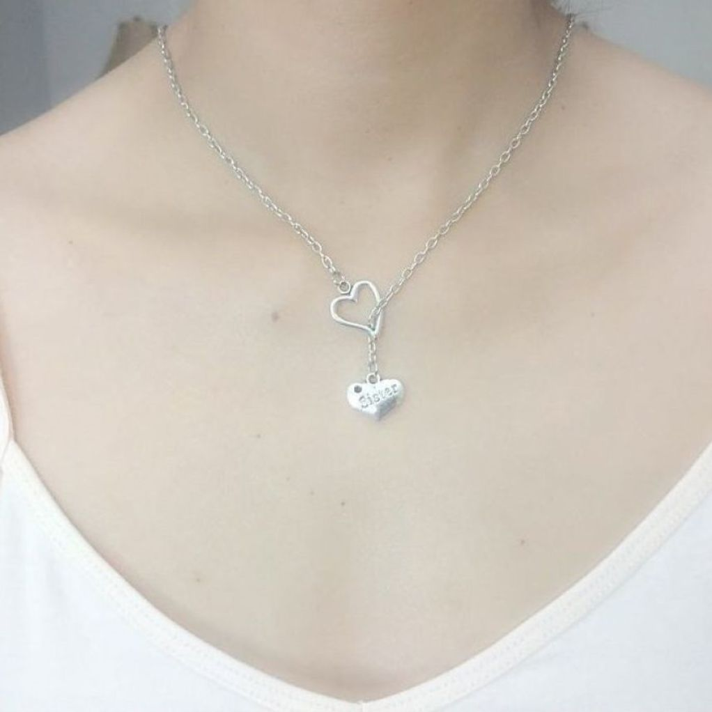 I Heart You Sister Necklace Lariat Style.