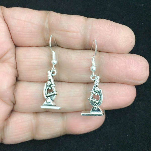 Medical Earring; Microscope Charms Dangle earrings.